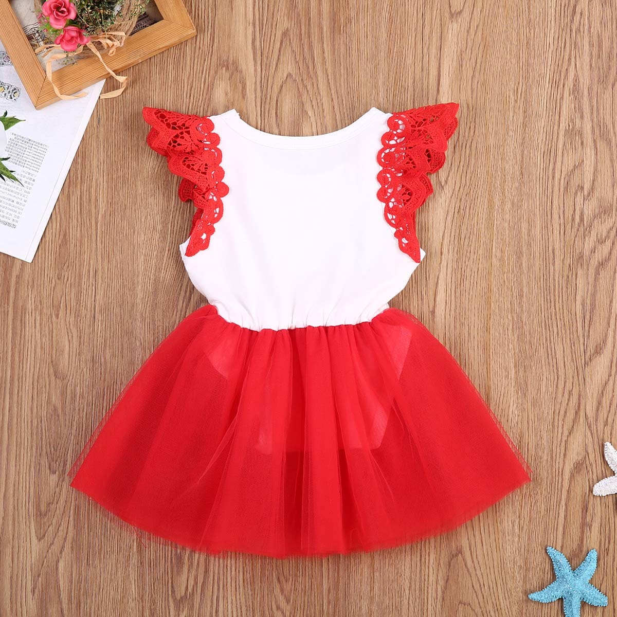 Pudcoco 2017 New Christmas Baby Girls Romper Cute Letter Lace Off shoulder Princess Red Romper Jumpsuit for baby first christmas Y18102907