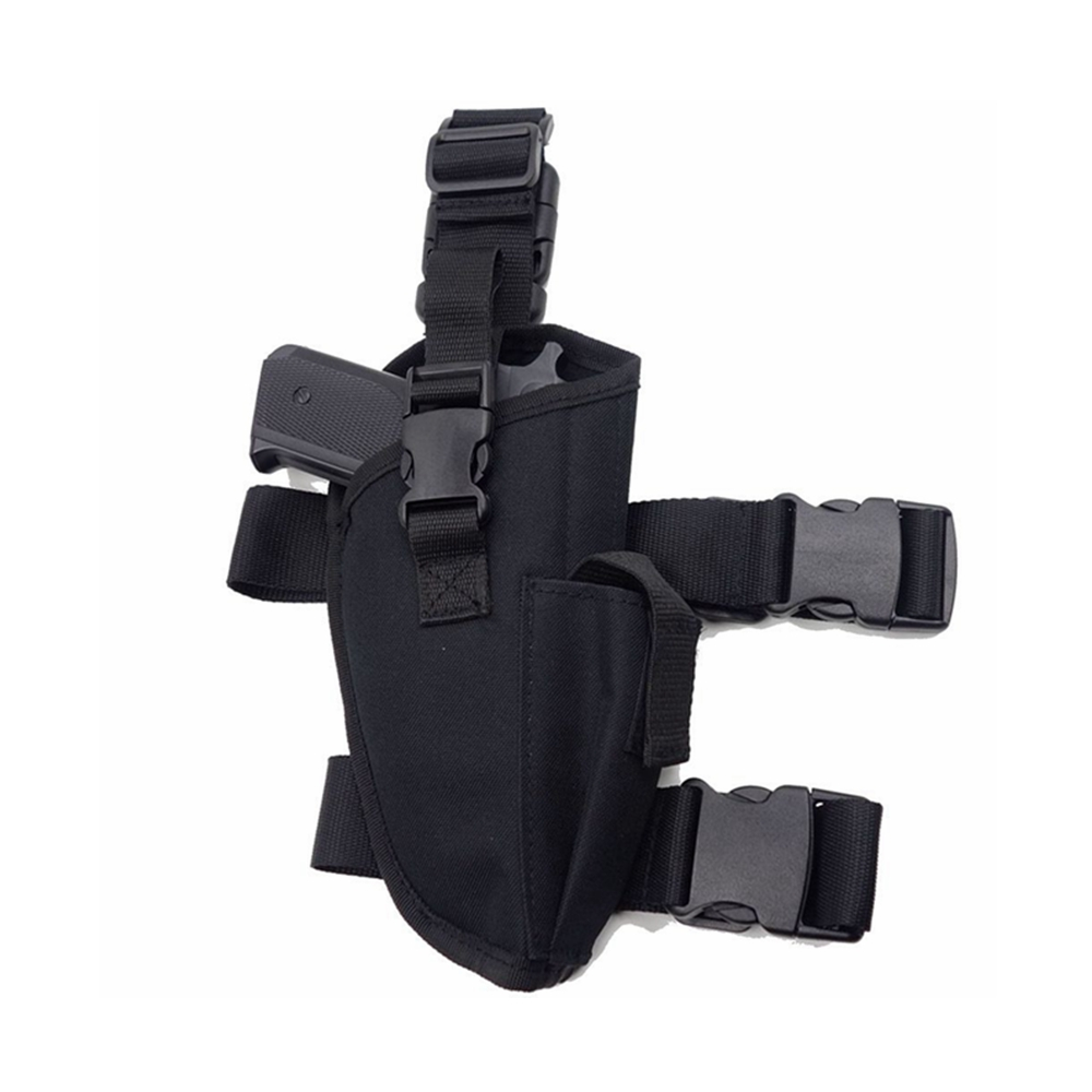 Brand New Tactical Right Handed Leg Holster Nylon Fully Adjustable Hand Gun Holster with Magazine Pouch for Most Medium Large Frame Pistols