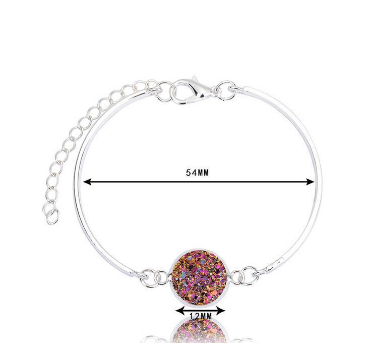 New arrival Selling silver heart bracelet multicolor crystal love bracelet natural stone jew