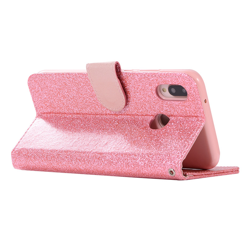 Case For Huawei P20 lite cover glitter Star diamond love flip wallet leather case For Huawei Nova 3e case silicon TPU back cover23