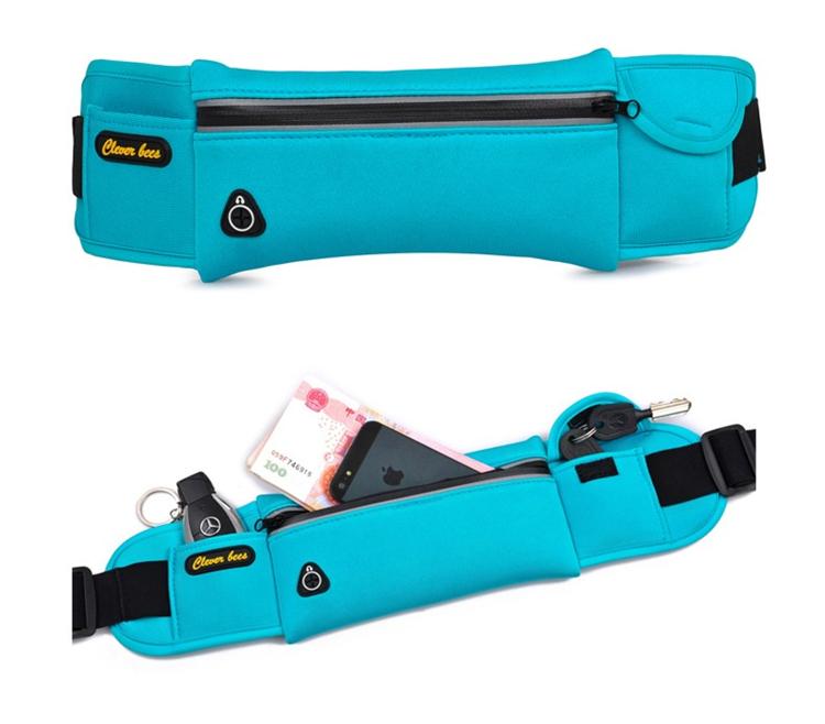 Unisex Waterproof Neoprene Belt Bags Waist Pack Bag Boys Belt Bum Bag_B6_17