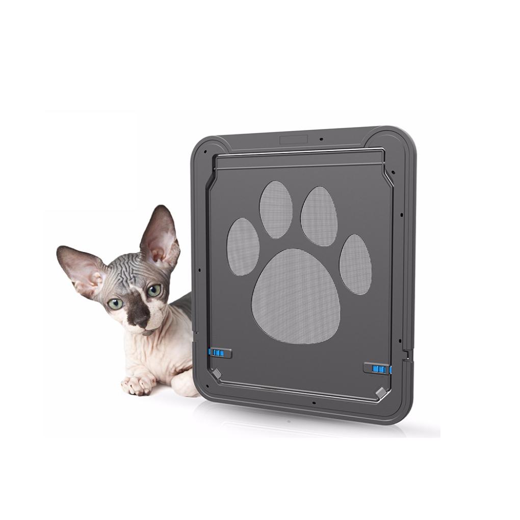 Classic Pet Door for Dog Cat Flaps with Door Liner Tunnel Included Easy Install FionaStore Cat Doors 4 way locking Cat Doors