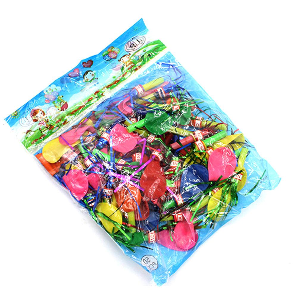 Balloons Fringed Metallic Glitter Kids Mixed Musical Noisemaker Whistles Blowouts for Party Xmas Halloween Random
