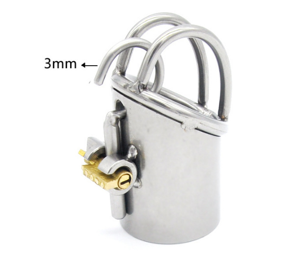 New Arrival PA Lock Male Chastity Cage Stainless Steel Chastity Device Sex Toys For Men Bondage Chastity Belt Z889