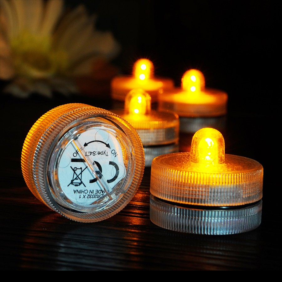 Waterproof Submersible LED Tea Light Electronic Candle Light (18)