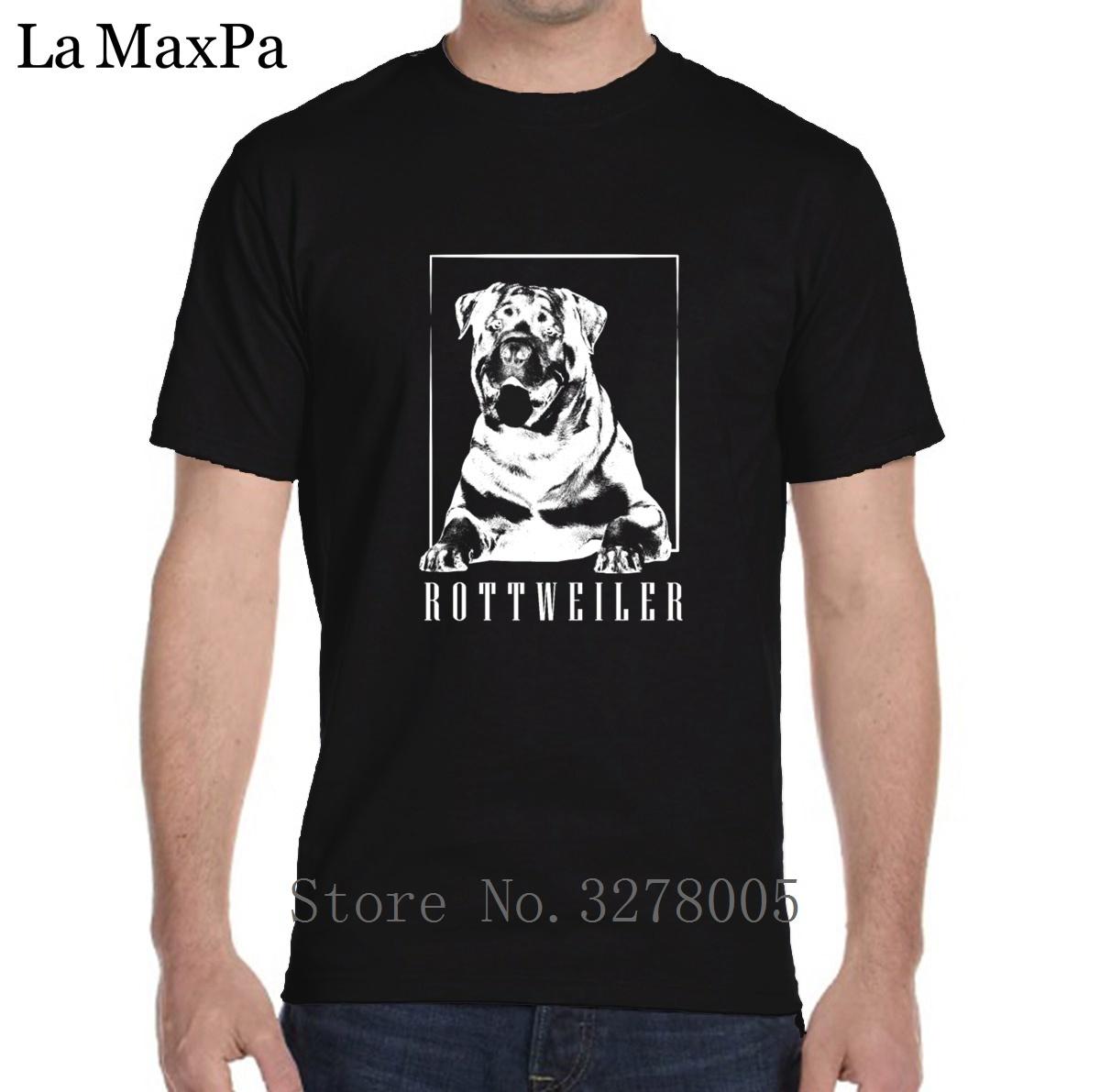 Personalizar T-Shirt Presente Melhor Rottweiler T Shirt Homens Carta 100% Algodão Tshirt dos homens O-pescoço Camiseta Personnalise Top Tee