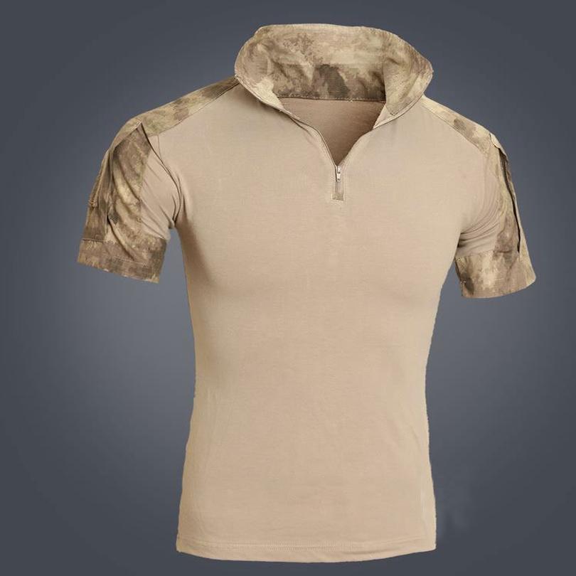 Men Tactical Multicam Short T Shirt Camouflage Hunting Combat Shirt SWAT Emerson Paintball Clothes Military Uniform C18111401