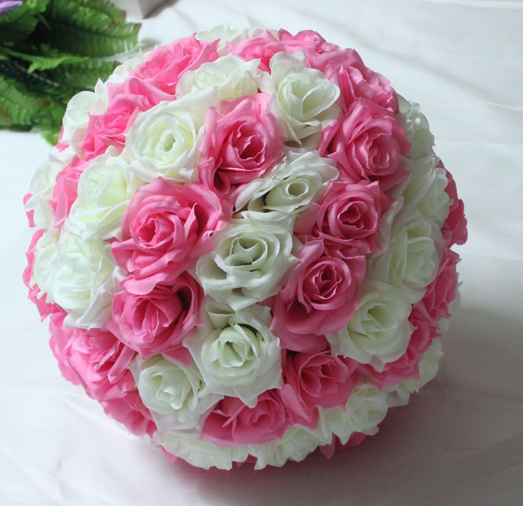 10inch (25cm) Wedding Kissing Balls Pomanders Romantic Silk Flower Kissing Balls Factory Wholesale (10)