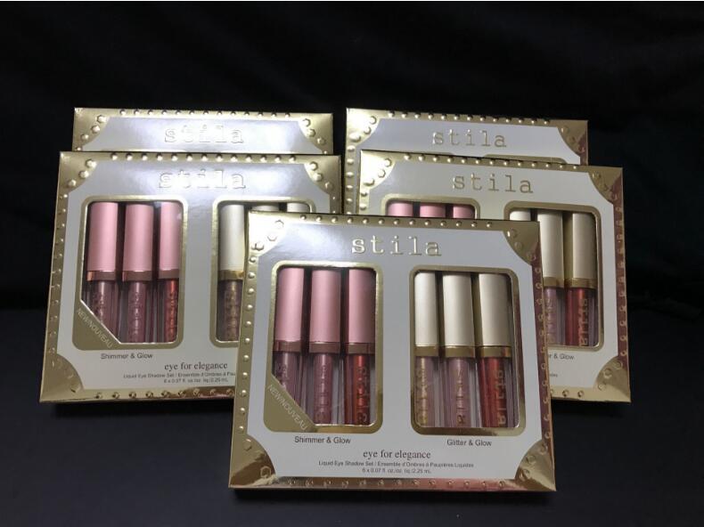 30pcs/ Free Shipping by ePacket New Makeup Eyes For Elegance set Shimmer Glitter Liquid EyeShadow 6 pcs Travel Eye shadow Set palettes