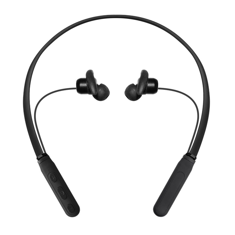 Black Cordless Bluetooth Neckband Wireless headphones Sweatproof Sports Bluetooth Earphone for iPhone xiaomi Samsung