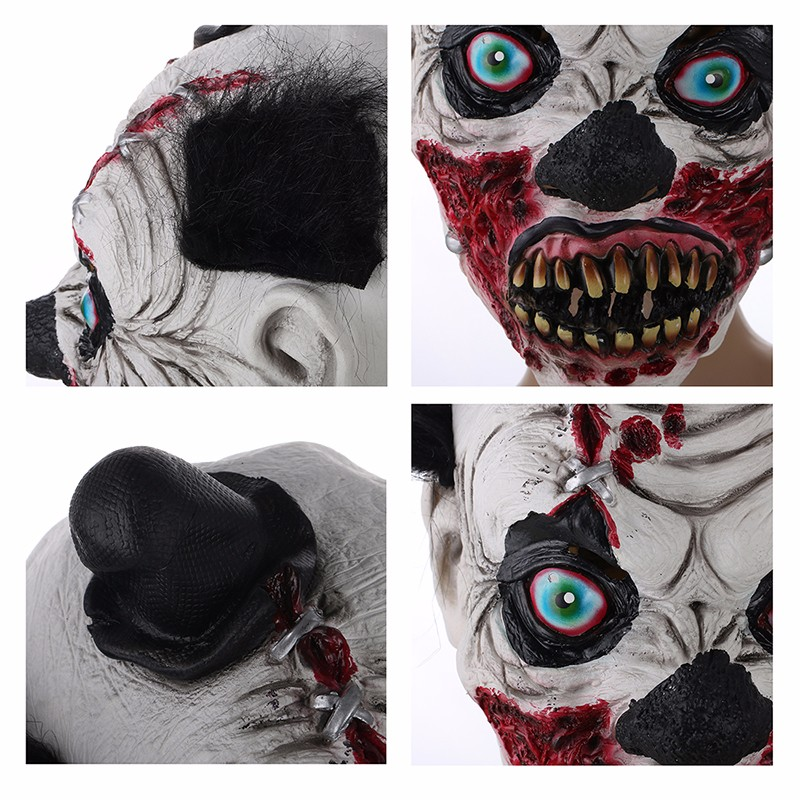 Scary Full Wrinkles Face Bloody Ghost Mask Adult Latex Mask Cosplay Masquerade Halloween Props Party Costumes Fancy Dress Decor (2)