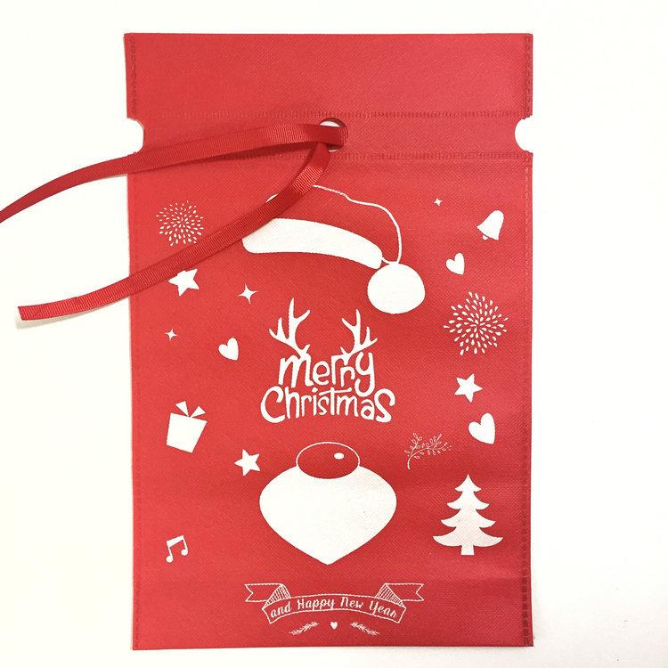 Free Ship Christmas Gift Bag Storage Bag Cotton Linen Drawstring Bundle Bags Xmas Candy Tea Package Gift Wrap Christmas Decorations WX9-988