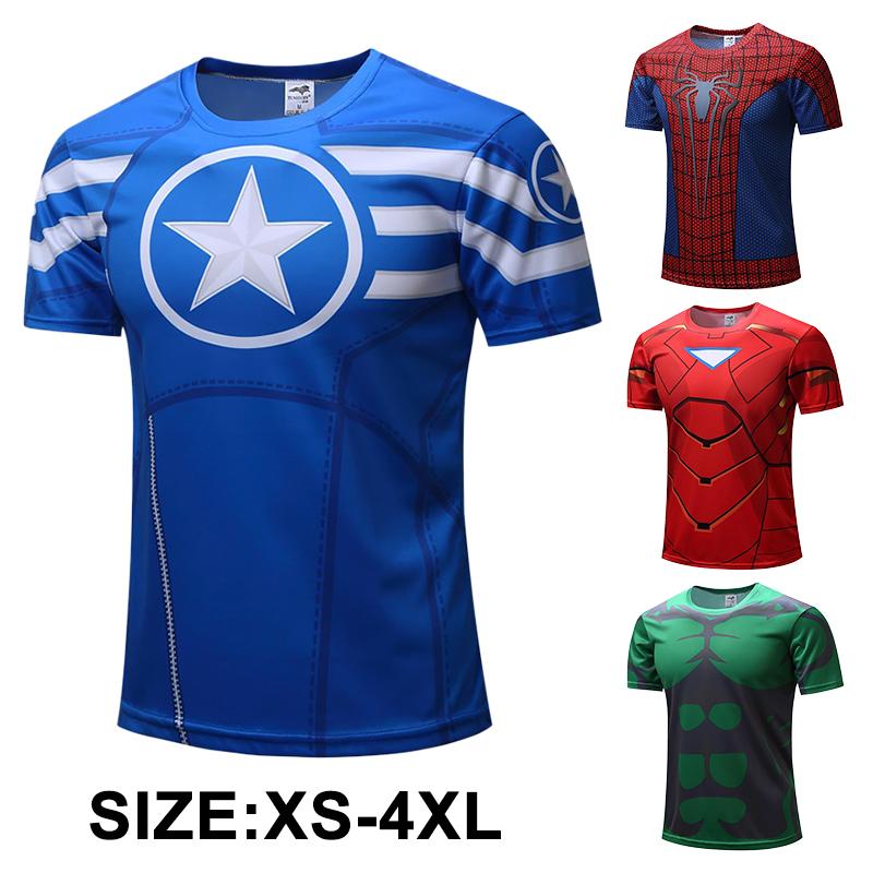 Maschi Bat man Supereroi Deadpool Lunga//Maniche Maglietta ciclismo T-Shirt