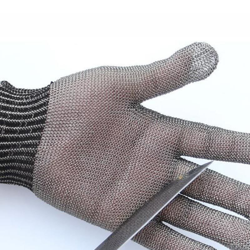 NMSafety Hig kalite Güvenlik Cut Proof Koruyun Eldiven 100% Paslanmaz Çelik Metal Mesh Kasap Eldivenler AISI 316L D18110705