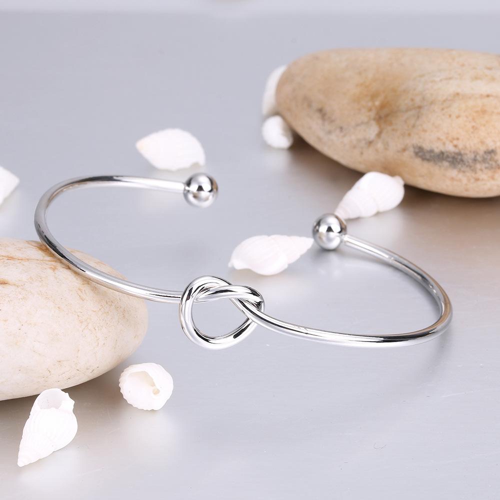 Регулируемая любовь узел Шарм браслеты браслет для женщин Девушки манжеты открытый браслет браслеты для друзей лучший рождественский подарок