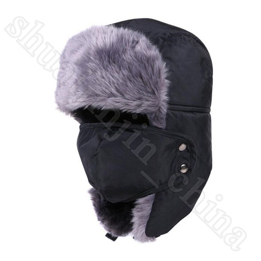Russian Army Trooper Hats Bomber Hat Aviator Winter Hat Warm Cap Skiing Ear flaps Bomber Outdoor Girls Caps OOA5692