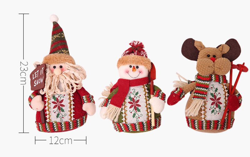 Christmas snowman ornaments Christmas Decorations for Home New Year scarf doll Santa Claus Desktop Decorations Navidad Natal (10)