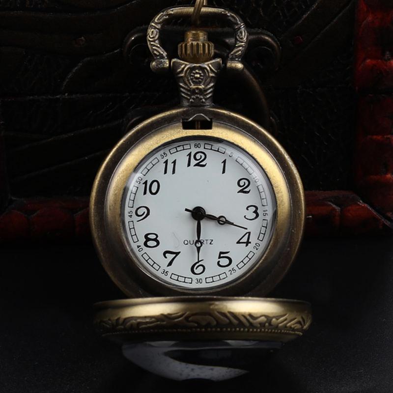 Китай традиционный Тай Чи логотип дизайн латунь карманные часы с цепью ожерелье повезло для мужчин женщин подарок