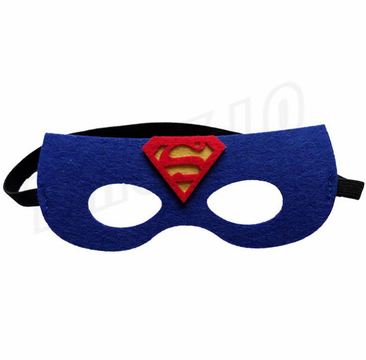 Hot 35 styles Superhero Kids Cartoon Eye Masks Halloween mask Christmas Captain America Wolverine Party Costumes mask for Children GC84
