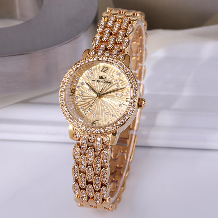 Elegant wrist wisdom bracelet watch fashion women watch set diamond waterproof quartz watch BW-22002