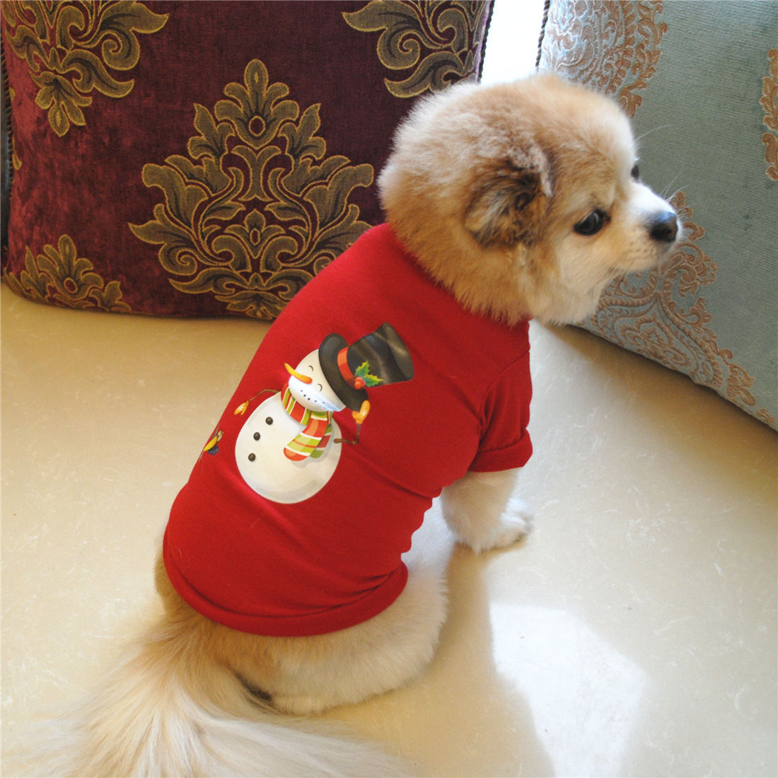Christmas Dog Clothes For Dogs Chihuahua Winter Cotton Dog Christmas Costume Pet Clothes Warm Pet Cat Hoodie Coat Clothing Dropshipping
