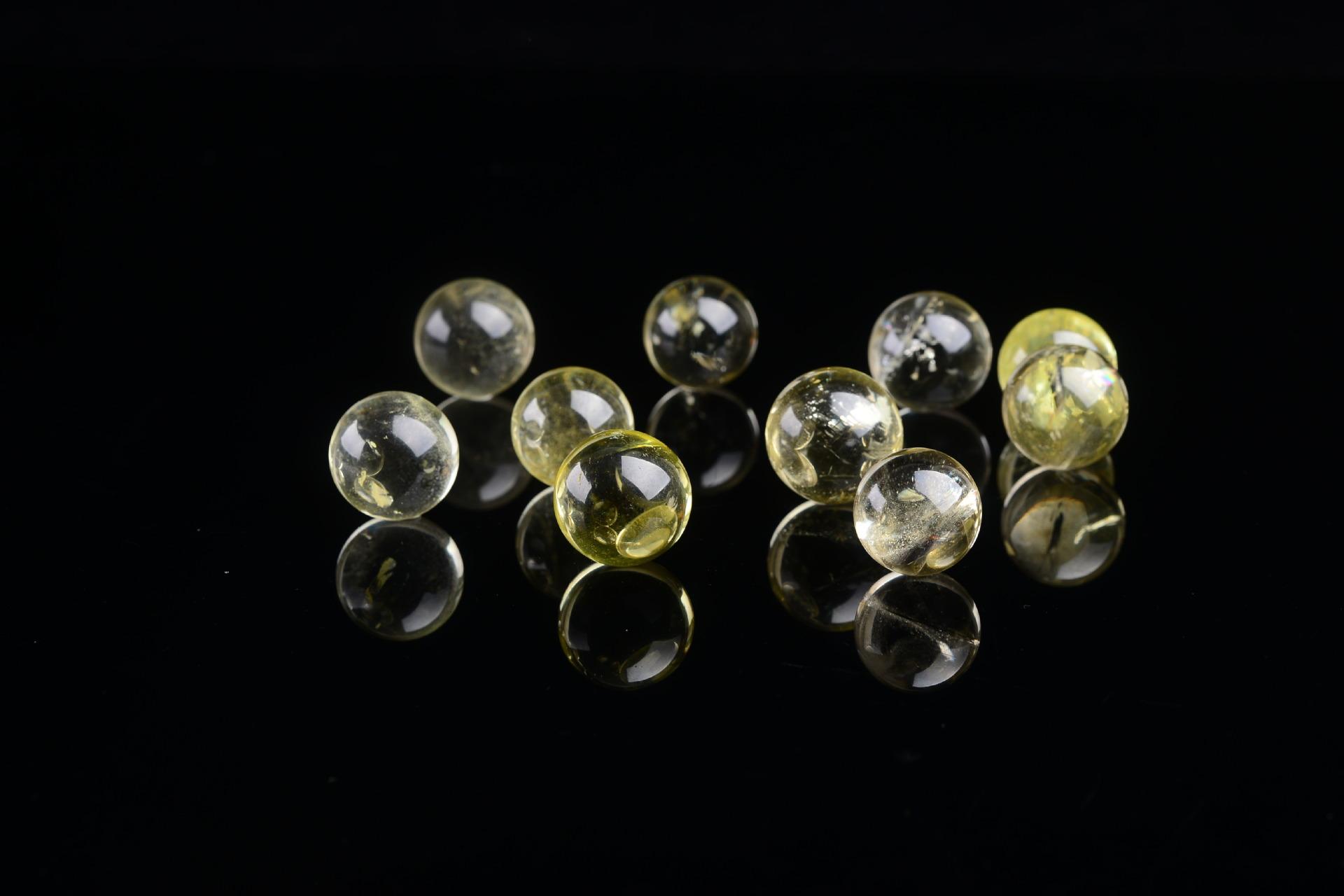 Seven Array Star Obsidian Crystal Ball Furniture Display Decor Multicolor