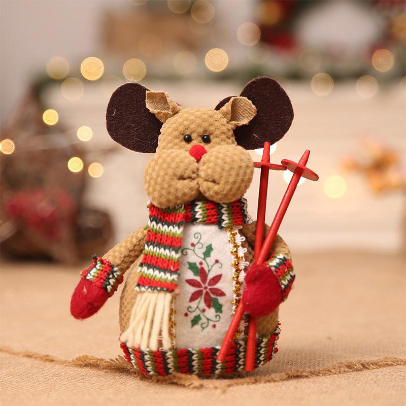 Christmas snowman ornaments Christmas Decorations for Home New Year scarf doll Santa Claus Desktop Decorations Navidad Natal (8)