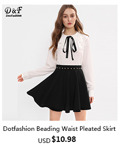 Beading Waist Boxed Pleated Skirt