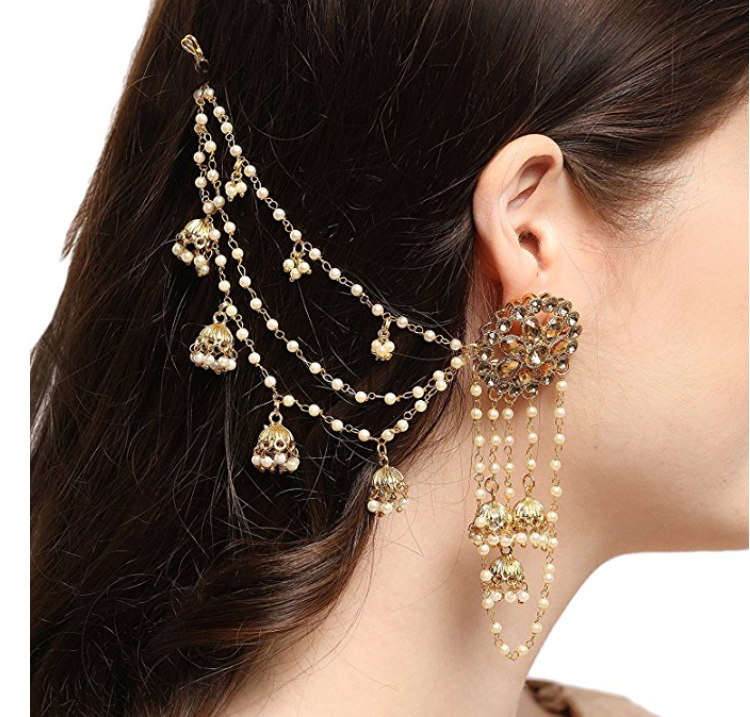 2019 Wholesale Bahubali Collection Goldcolor With Pearls Kundan