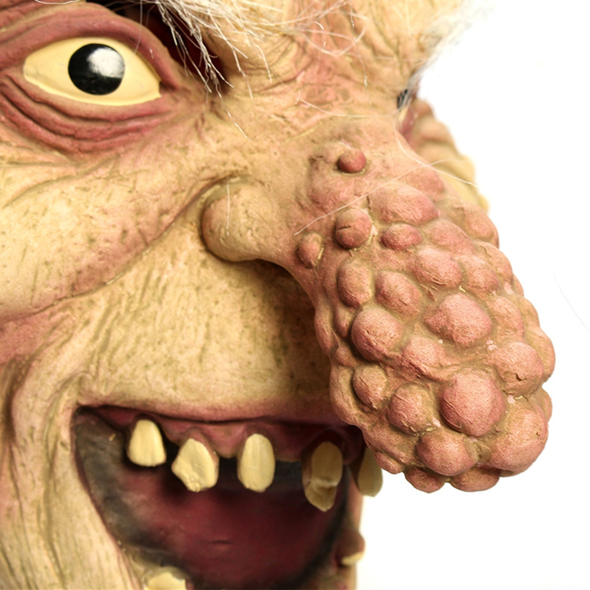 Halloween Scary Latex Bald Old Man Big Nose Mask Fancy Dress Costume Party Prop Natural Latex Perfect for Creating Horror Effect