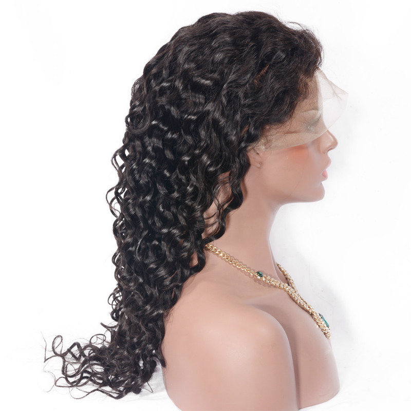 130% Density Human Hair Wig Brazilian Hair Indian Malaysian Peruvian Full Lace Wigs Deep Curly Lace Wig