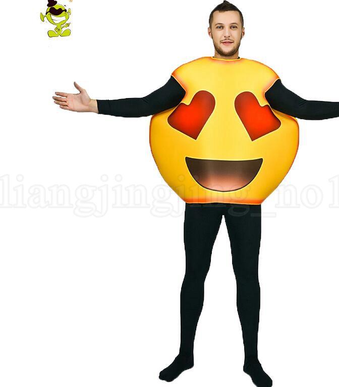 Cara divertida Emoji fiesta de disfraces cosplay ropa en navidad disfraces Disfraces divertidos cara Emoji para adultos KK6111