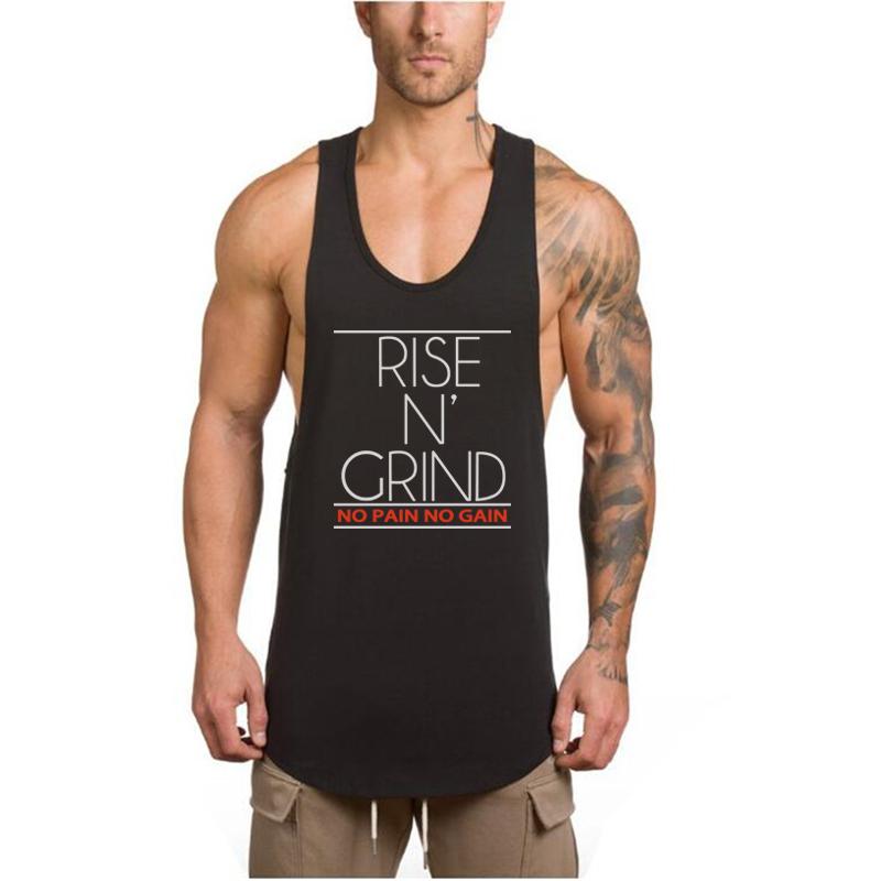 TX Apparel Mens Gym Cotton Tank Tops NO Pain NO GAIN Muscle Stringer Vest