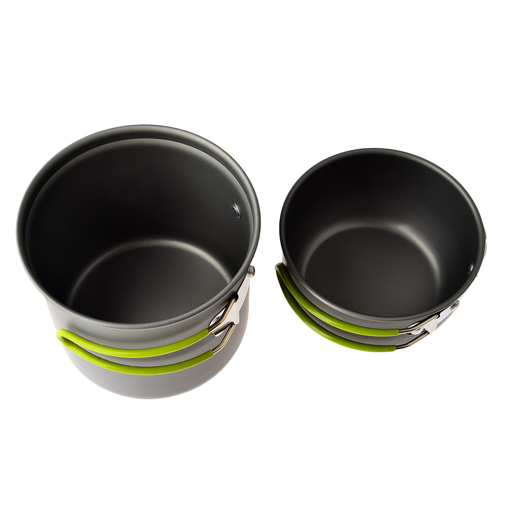 2 pcs casserole-Pan-Set ustensiles de cuisine Set bol-jeu camping randonnée Picknik
