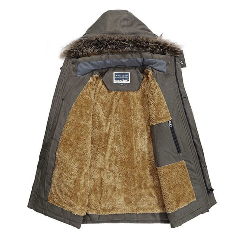 Winter Military Jackets Men Fur Collar Thick Velvet Warm Parka Mens Jackets And Coats Outwear Windbreaker Plus Size 5XL 6XL Coat C18111201