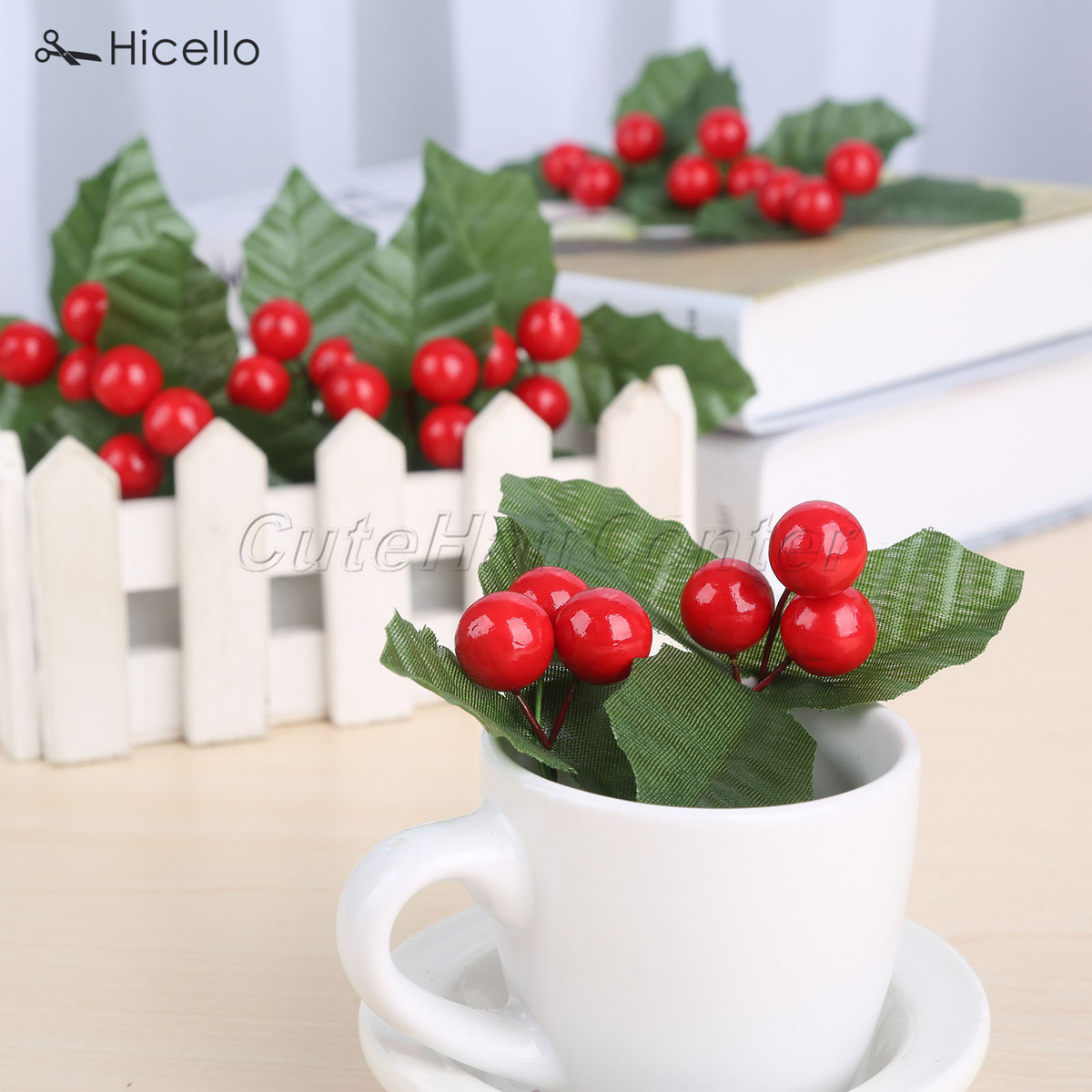 Artificial Berries 15mm leaves Christmas Wedding Birthday Party Garden Home Shop Decoration DIY Craft Tool Y18102909