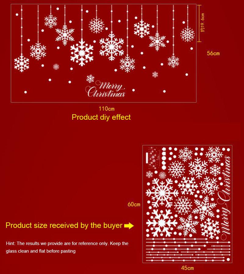Happy New Year Christmas Decorations for Home Snowflake Glass Sticker Merry Christmas Decor Shop Window Sticker Navidad Natal (2)