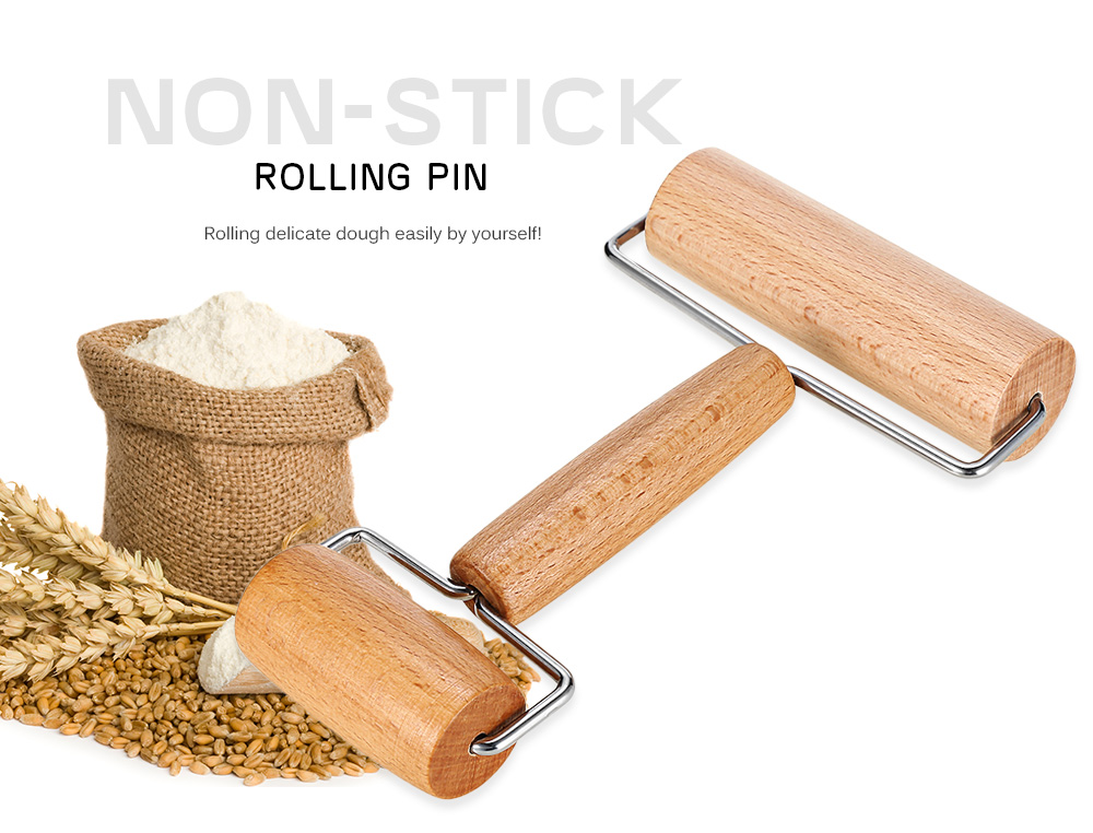 T Type Baking Stick Wooden Rolling Pin Cake Dessert Cooking Tool