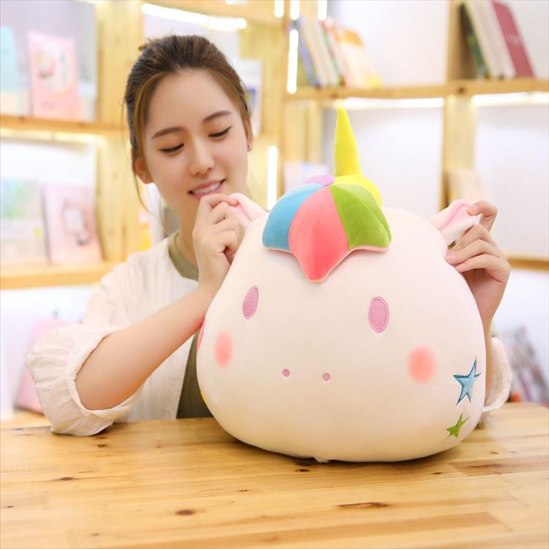 Unicorn cartoon plush Pillow Blanket Soft Unicorn Cushion Blanket Bolsters Throw Pillow Air-condition Blankets Travel Pillows FFA922