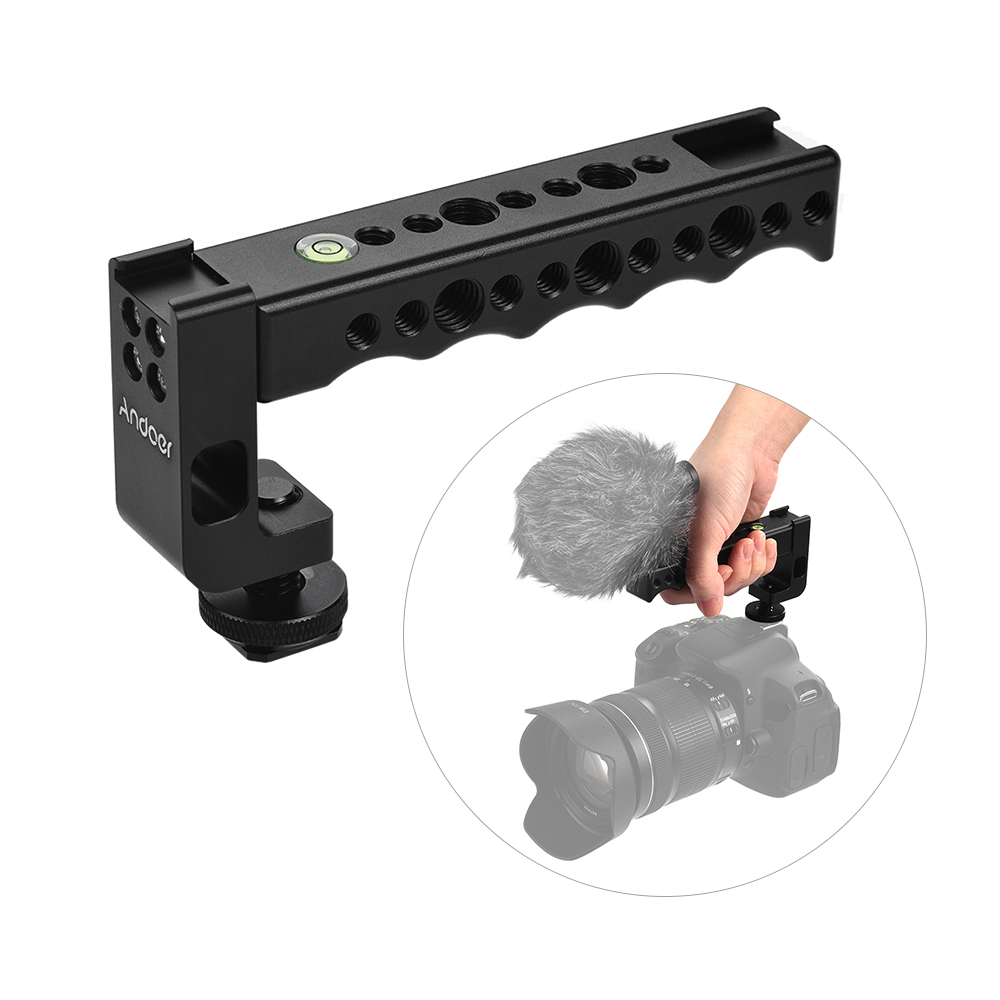 Großhandel DSLR Kamera Top Griff Grip mit Dual Cold Shoe Base für Nikon Sony A7 A9 für Pentax Olympus Canon EOS Kamera