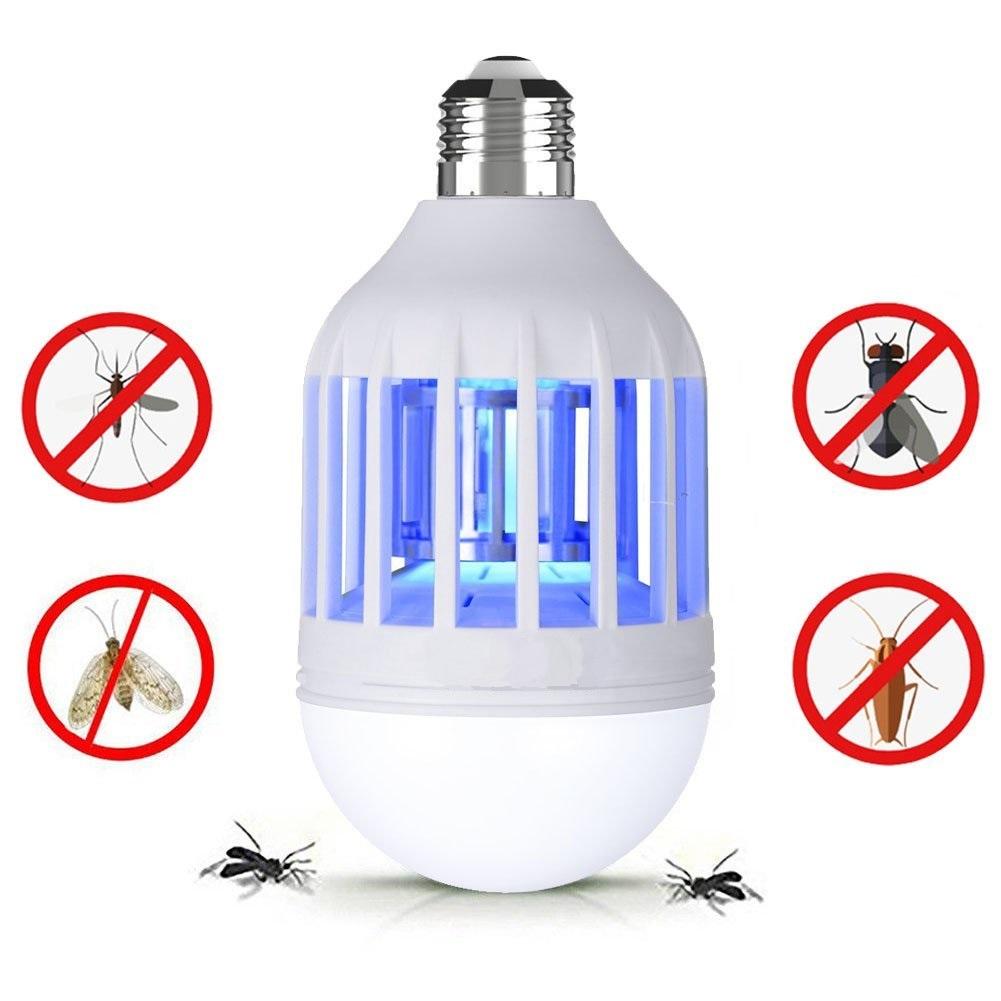 E26//E27 Ampoule Lampe Insecte Moustique Mite Mouche Piège Home UV Bug Zapper tueur
