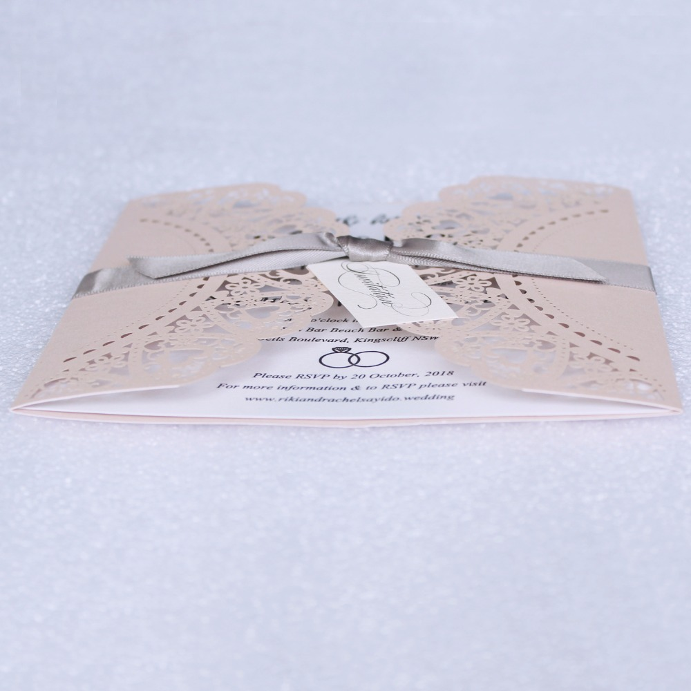 Laser Cut Invitations With Envelope