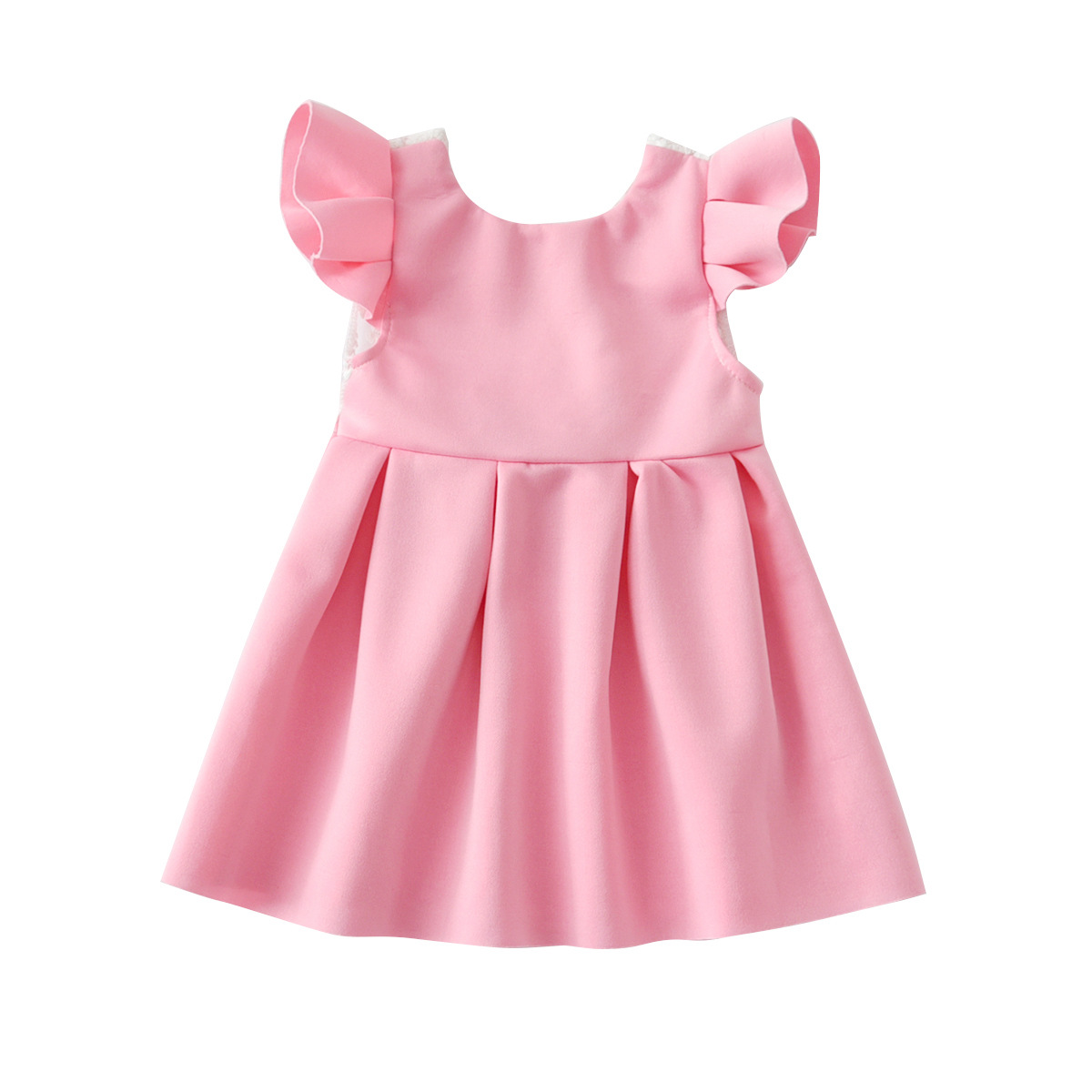 Vestido de Fiesta de Princesa con Tirantes Florales con Estampado de Lazo s/ólido para beb/és y ni/ños peque/ños 6 Meses Vestido de ni/ña de Boda 3 a/ños