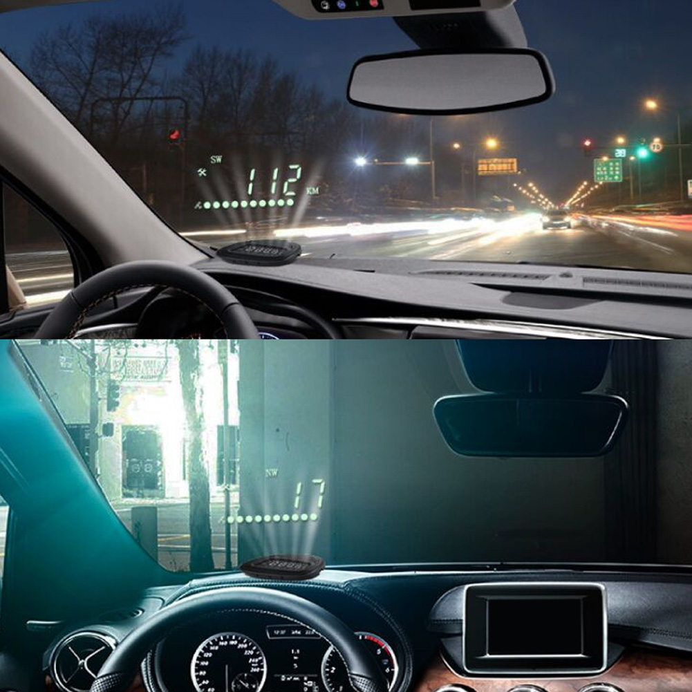 Universal OBD2 Car HUD Auto GPS Head Up Display Overspeed Warning Alarm System Digital Car Speed Projector on the Windshield