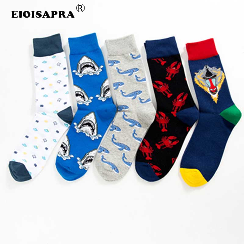 Mens Athletic Low Cut Ankle Sock Blue Lobster Art Painting Pattern Short Breathable Sock