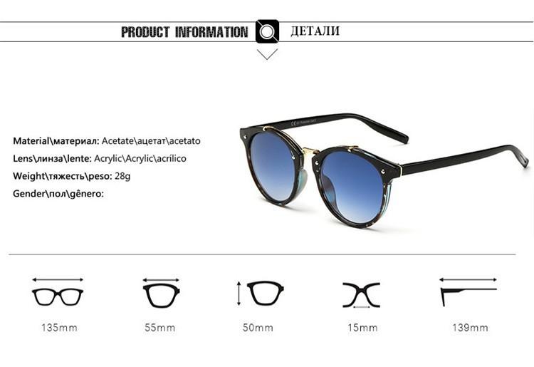 2016 Classic Brand Designer Sunglasses Women Men Retro Round Sun Glasses Woman shades Mirror Eyewear Lady Male Female Sunglass (20)