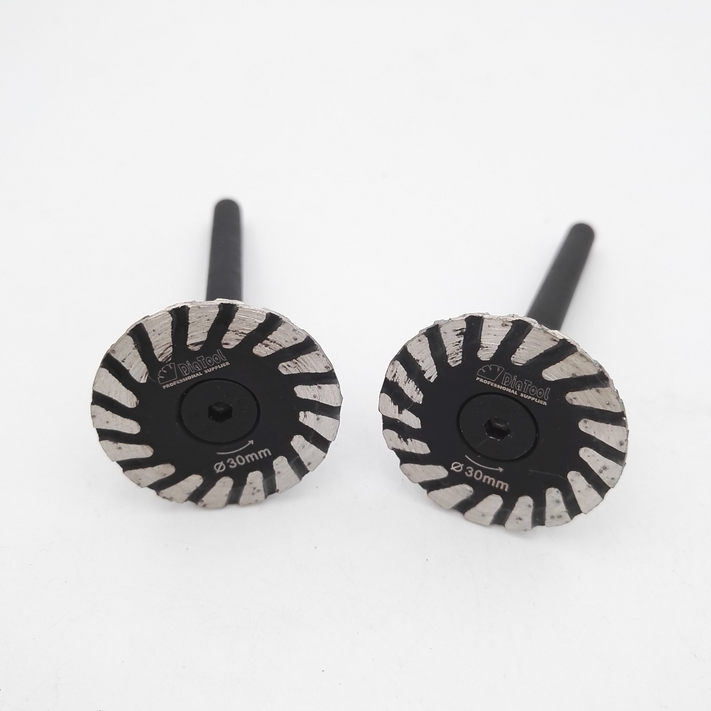 2 Dorn Schneidscheibe Kit 10pcs 30mm 8 L/öcher Rotary Mini Diamond Kreiss/ägebl/ätter Schneiden Rad Scheiben