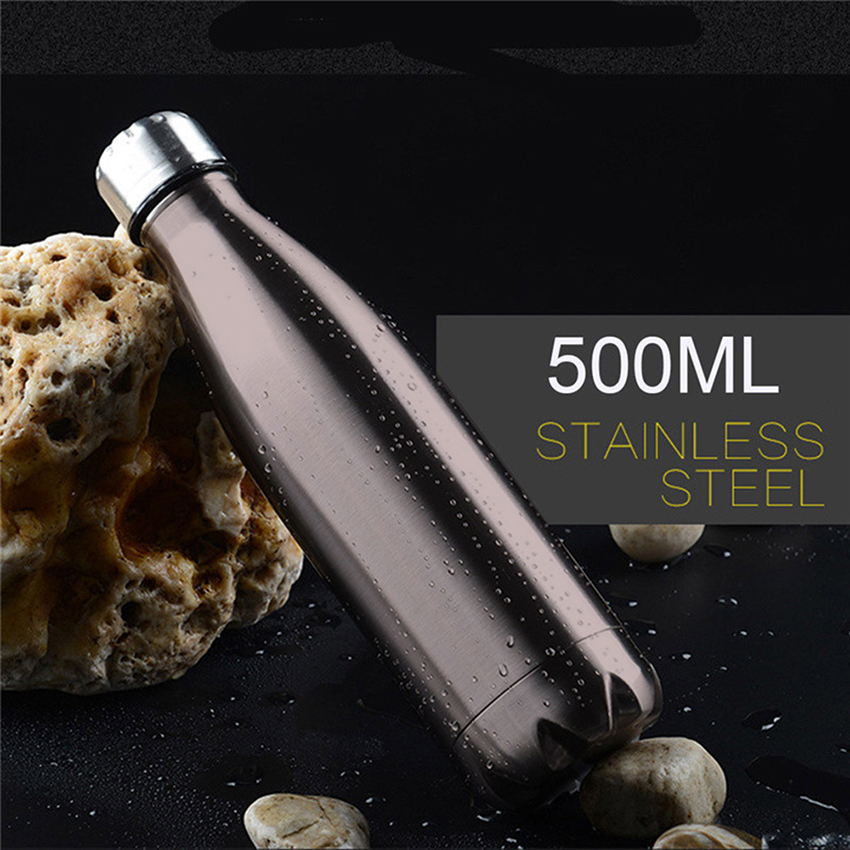 HOT 500ML My Bottle Stainless Steel Water Bottle sport Thermal Insulation Shaker Drink Bottle For kids drinking drinkware C18110301