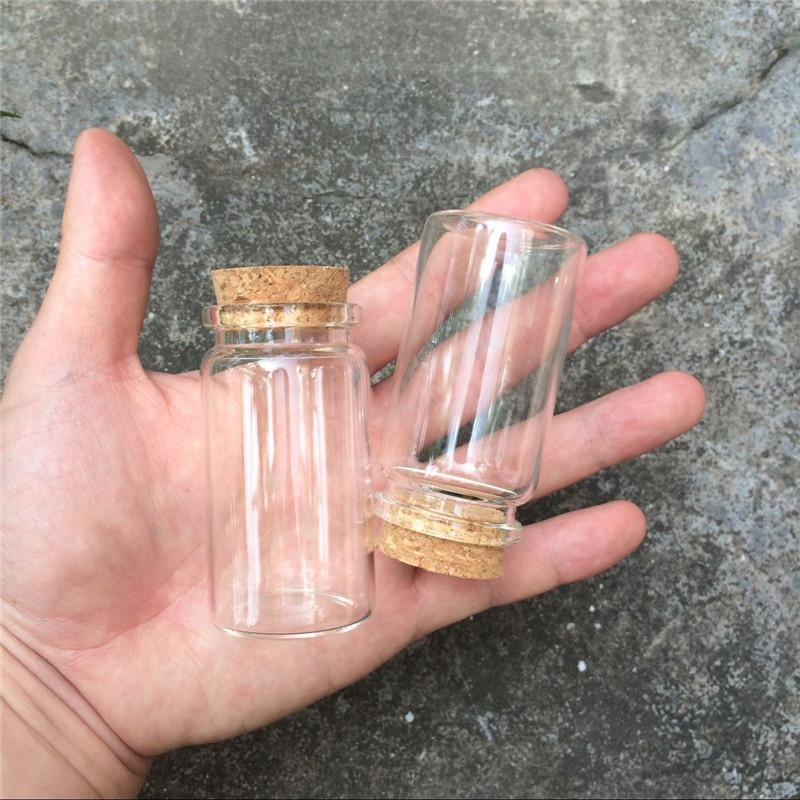 50ml Glass Bottles With Cork Transparent Empty Glass Vials Jars 50pcslot