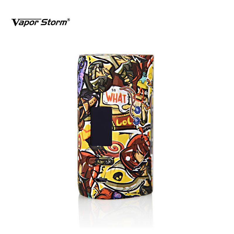 1 PZ Vapor Tempesta 200 W Vape Mod Storm230 Box Colorato VW TCR Modalità di bypass E Sigaretta Supporto Dual 18650 Grande Schermo LED Mods DHL